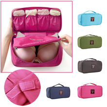 Bra Underwear Lingerie Travel Bag for Women Organizer Trip Handbag Luggage Traveling Bag Pouch Case Suitcase Space Saver Bag