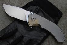 2015 Newest MG Tyrant Flipper folding knife ball bearing washer N690 blade stonewashed titanium handle tactical