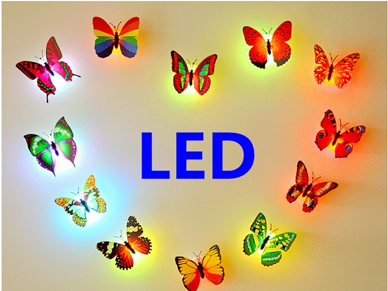 wholesale led light night light 7 colorful butterfly led lamp night lamp toilet rest room lamp. Black Bedroom Furniture Sets. Home Design Ideas