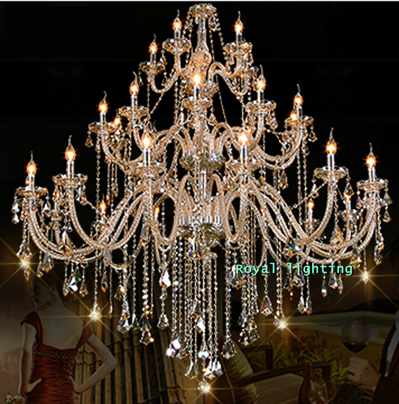 Luxury Foyer Lighting : Arms luxury chandelier villa hotel large crystal