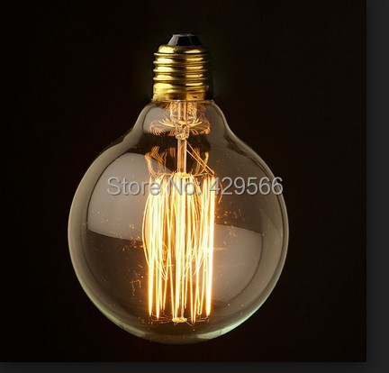 Edison Bulb String Lights Big Lots : 10pcs/lot Free Shipping G95 Industrial Edison Bulb String Nostalgic Bulbs Dia: 95MM E27 40W 220 ...