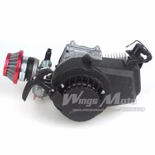 Buy 49CC 2-stroke Engine Motor Pocket Mini Bike Scooter ATV 6T T8F Chain 44MM Bore ALU Starter Racing Air Filter for $37.73 in AliExpress store