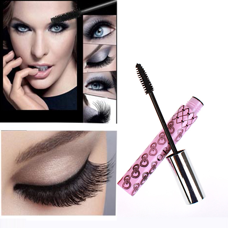 1pcs Black Mascara Volume express Curling Eyelash Extension Grower Long Fiber Makeup Cosmetic Mascara Liquid for eyes(China (Mainland))