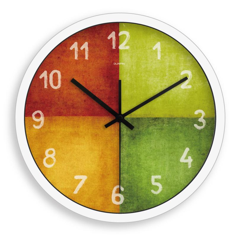 Wall clock rhythm core clock table vintage color block(China (Mainland))