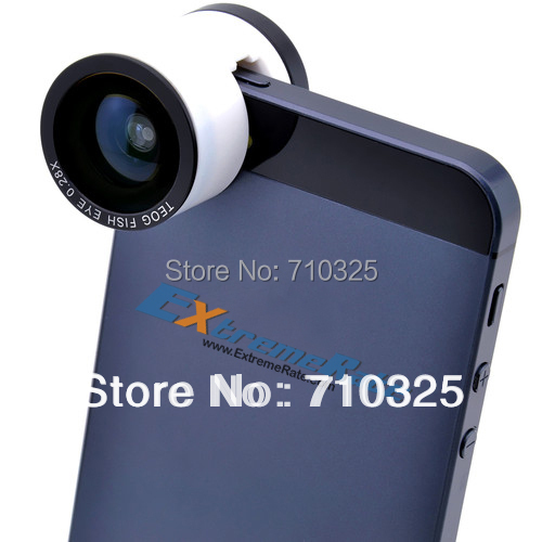 Clip on Newest Fish Eye Wide Angle Macro 3in1 God's Eye Fisheye Lens Camera For iPhone 5 5S Christmas Gift + Wholesale Price