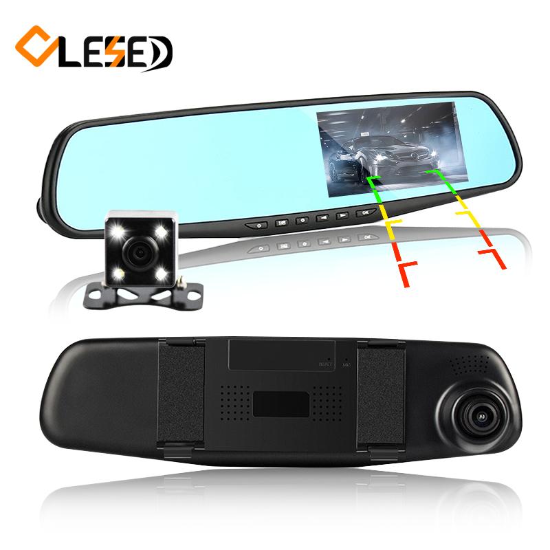 dual lens car camera rearview mirror auto dvrs cars dvr parking video recorder registrator dash cam full hd 1080p night vision(China (Mainland))