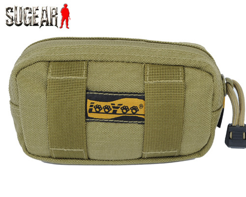 LooYoo New Summer Style Outdoor Riding Hiking Camping High Quality Nylon Durable 1050D Nylon A17 1050D Waist/Phone Pouch Tan/bk