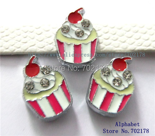 wholesales 10pcs ice cream Slide Charms 8mm Fit Can through 8mm band 8mm Pet Dog Cat Tag Collar Wristband(China (Mainland))