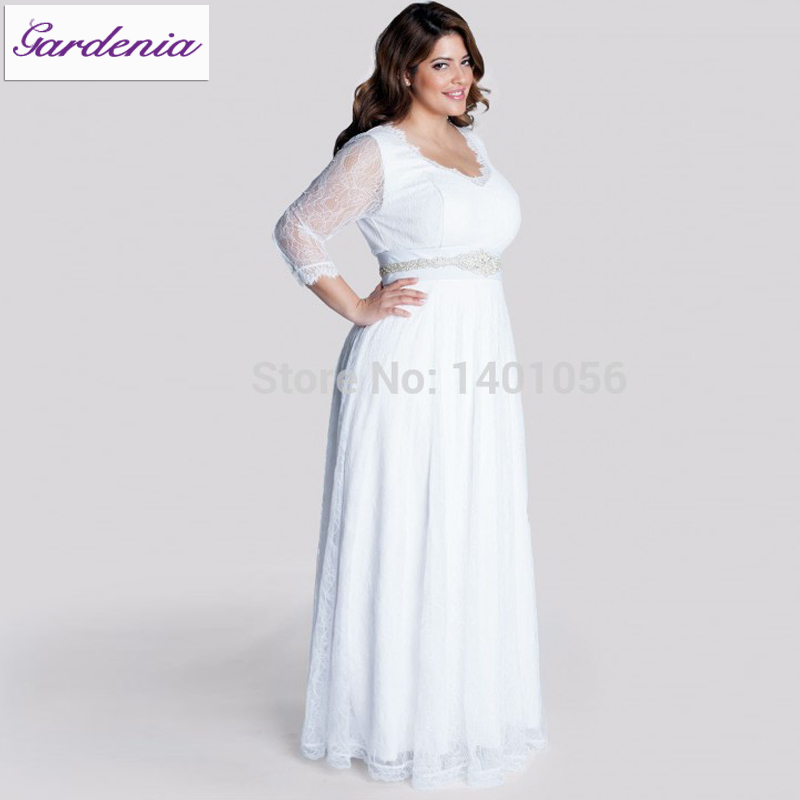 Robe De Mariage Casual Beach Wedding Dress For Big Women