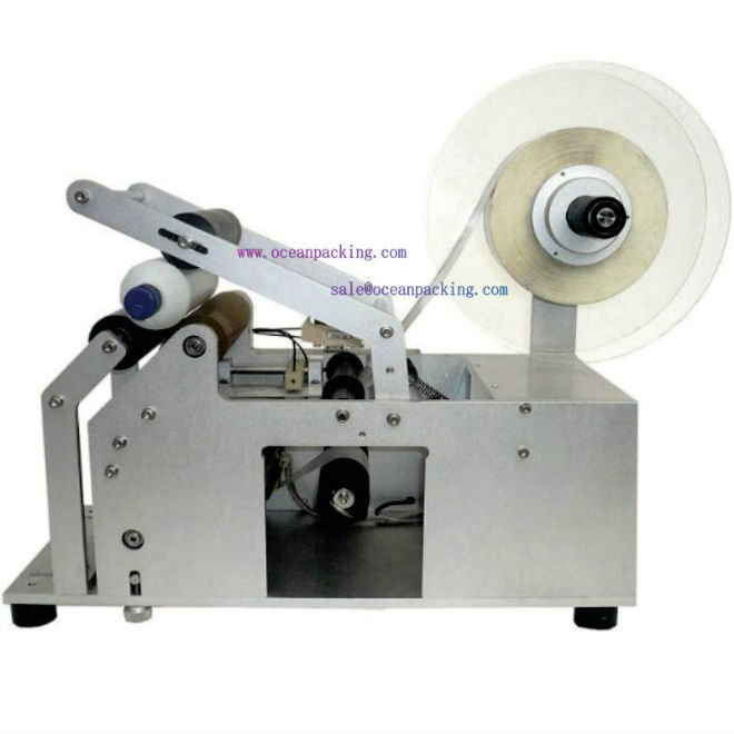 semi automatic round bottle labeling machine - Guangdong Oceanpacking Co., Ltd store