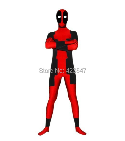 red and black deadpool costume full body deadpool suit zentai costume