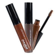Waterproof Henna Eyebrows Color Cream Brand Cosmetics Eye Makeup Colored Pencils Eyebrow Enhancer Gel Brown Black Coffee(China (Mainland))