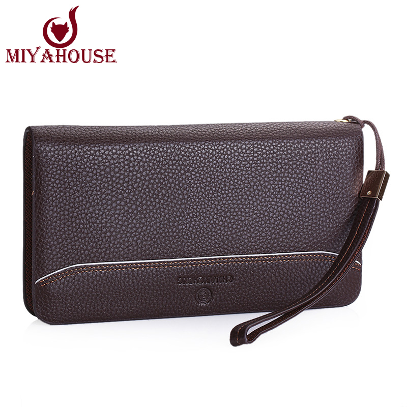 New Fashion Card Holder Wallets For Men Long Design Wallet Fashion Male Clutch Purses Business Style Men Zipper Purse(China (Mainland))