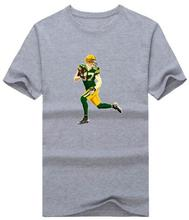 2017 Men T Shirt 87 Jordy Nelson green bay fans T Shirt Tshirt Tshirts Tees Jersey T-Shirt Mens T Shirts Fashion 2016(China (Mainland))