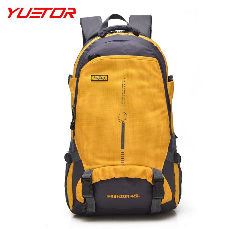 Brand YUETOR sport escalada climbing backpack 45L nylon waterproof outdoor deporte hiking bags men and women camping equipment
