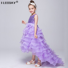 Buy Baby Girl Cake Dress Children Sequined Princess Dress Long Tail Kids Girls Wedding Clothes bow Teenagers Birthday Costume for $16.21 in AliExpress store