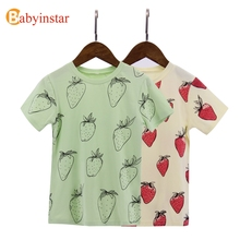 Buy Babyinstar 2017 New Arrival Children Tops Tees Strawberry Full Pattern T-shirt Boy / Girl Summer Tops Outwear Cute Print for $5.99 in AliExpress store