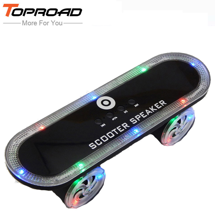 Mini Skateboard Scooter parlantes Bluetooth Speakers Portable Blutooth Speaker MP3 Music Player Receiver Subwoofer Sound Boombox(China (Mainland))