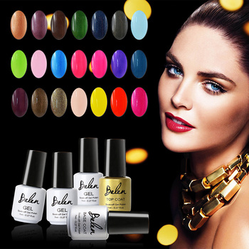 Belen 7ml Nail Polish Color Gel Lacquer Easy Clean Cured With UV Lamp or LED lamp Needed UV Nail Varnish Nail Direction For Nail