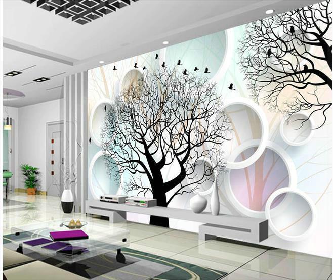 tree circles wallpaper