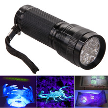 New UV Ultra Violet Blacklight 14 LED Flashlight Torch Invisible Ink Marker LED Torch light(China (Mainland))