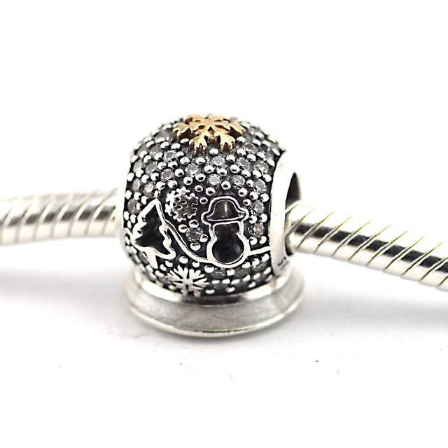 925 - серебристо-ювелирные бусины черная пятница проложить CZ бусины подходящий европейский оригинальный браслет серебряный 925 мода DIY