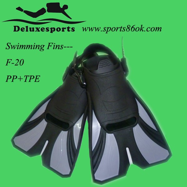 Free shipping hot sale! Flipper comfortable Size adjustable dark Diving Fins F-20G(China (Mainland))