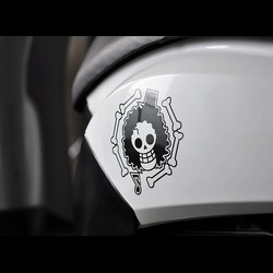 Car decals skull one piece 12x12cm car motorcycle truck decals vinyl waterproof outdoor stickers(China (Mainland))