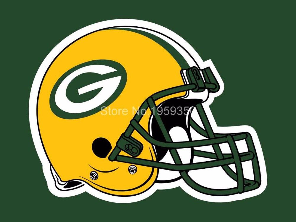 FREE SHIPPING--Green Bay Packers Helmet Flag 3ft x 5ft Polyester NFL Team Banner Flying flag(China (Mainland))