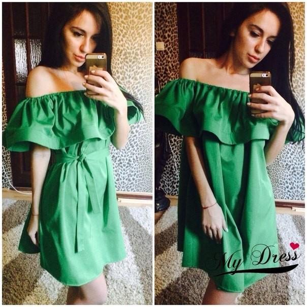 Green-Summer-dress-2015-fashion-women-s-100-Cotton-made-ruffle-mini-one-piece-dress-good-quality