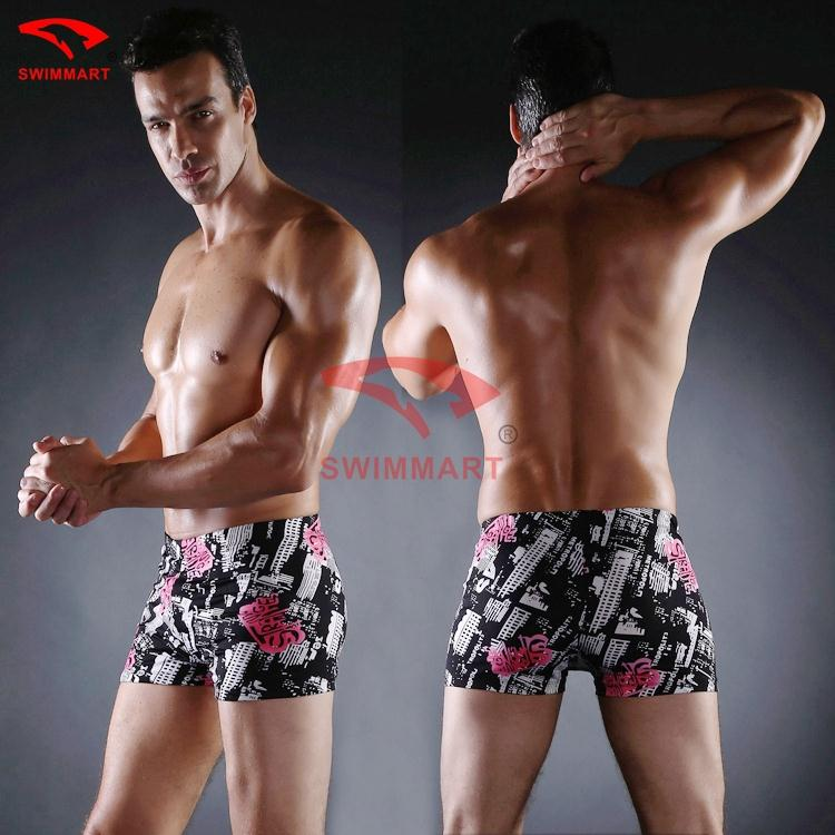 2015 NEW Swimwear Men Sunga Male Men's Slim Sexy Boxer Swimsuit Swimming Trunks Bathing Shorts(China (Mainland))