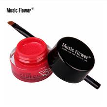 Eyeliner Gel Waterproof Makeup Gel Eye Liner Long Lasting 24 Hours lip stick Perfessional Cosmetics Music Flower lipgloss(China (Mainland))