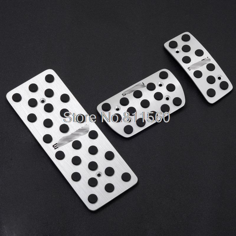 Aluminium Alloy Fuel Brake Foot Rest Pedals Fit For Subaru XV Impreza forester outback AT