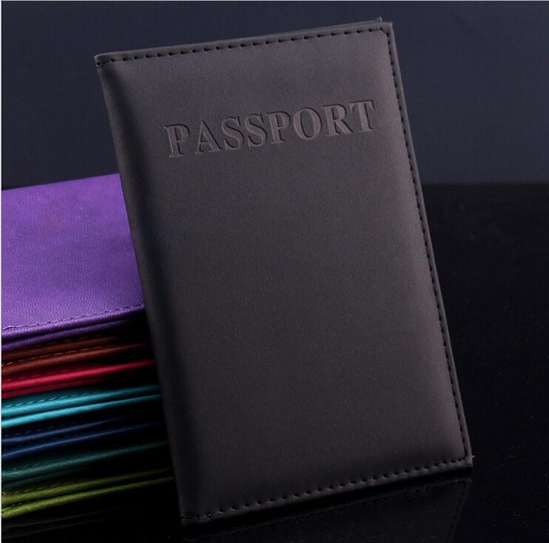 New Fashion PU Card Holder Women Travel Passport Holder Business Passport Cover ID Credit Card Holder