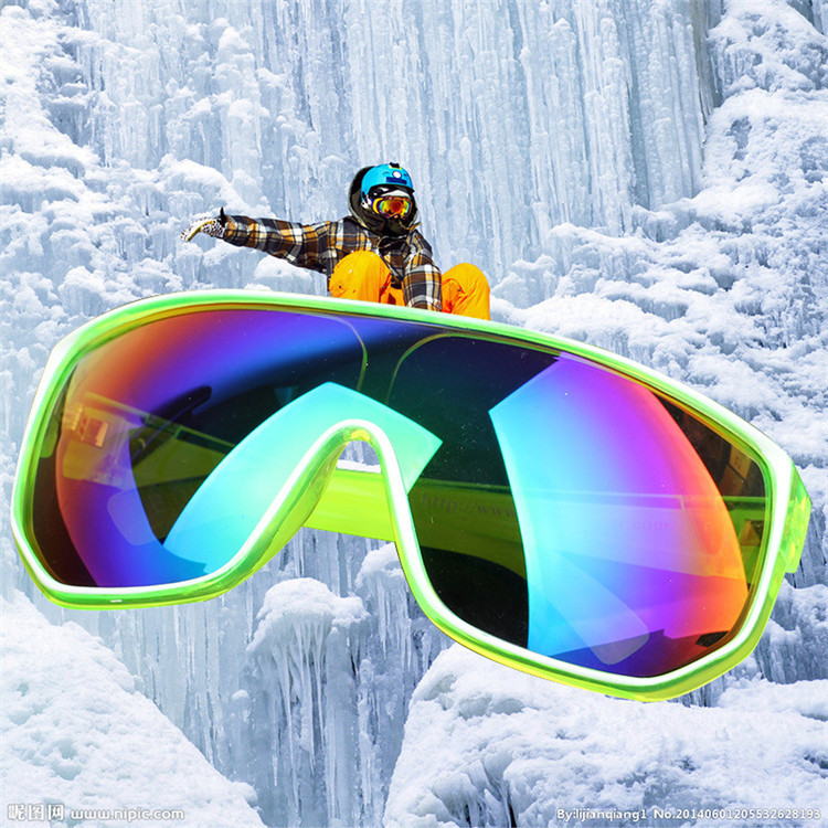 Outdoor Riding Windproof Glasses Skiing Goggles Motorcycle Eye Protection Eyeglasses Colorful Ski Glassess Free Shipping(China (Mainland))