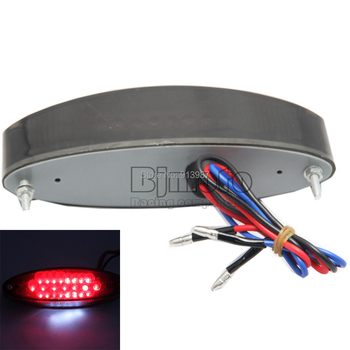 LPL-005-SM 1PC UNIVERSAL MOTORCYLE 28 LED SMOKE BRAKE STOP LICENSE PLATE TAIL LIGHT