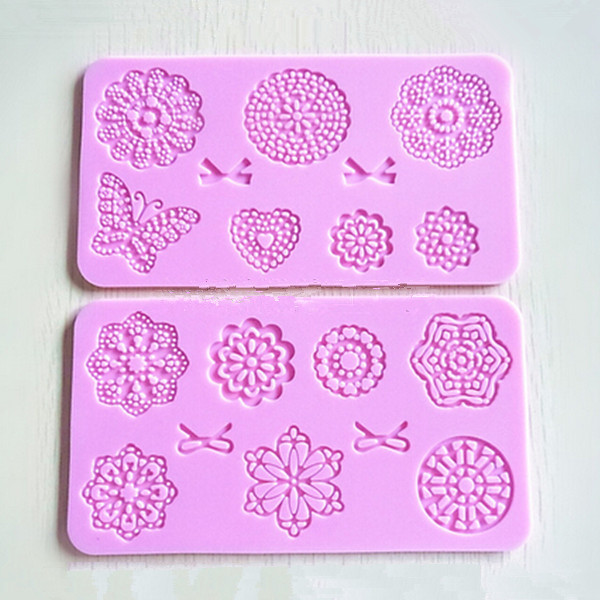 High Quality Flowers Butterfly Silicone Lace Mold Mat Cake Mold Decoration for Cakes Fondant Baking DIY Tools(China (Mainland))