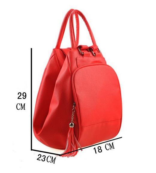 Женщины рюкзаки Mochilas преппи путешествие сумки девочки школа сумки полиуретан кожа повседневный рюкзак дамы свободного покроя мешок 5 / 10