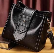 Femme sac dames en cuir véritable sacs pour femmes 2019 bandoulière sac de messager femmes épaule femmes sac à main petite femme nouveau T18(China)