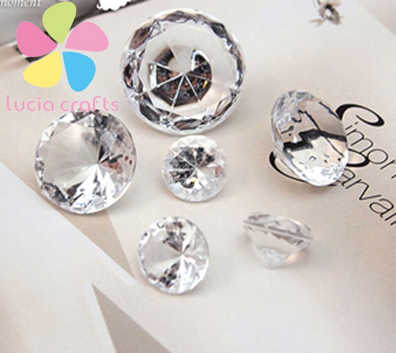 Multi sizes option clear color Wedding Table Scatter Crystals wedding confetti 16010734(China (Mainland))