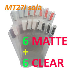 12PCS Total 6PCS Ultra CLEAR + 6PCS Matte Screen protection film Anti-Glare Screen Protector For SONY MT27i Xperia sola