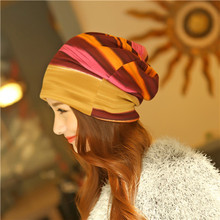New Arrival 3 Use Hat Knitted Scarf & Winter Hats for Women Striped Beanies Hip-hot Headband Skullies Girls Gorros Women Beanies(China (Mainland))