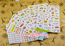 SALE!9.3*15cm Creative cartoon cat PVC face sticker diary decorationFor Decoration Skin DIY Wall Stickers 6sheets/lot 083002065(China (Mainland))