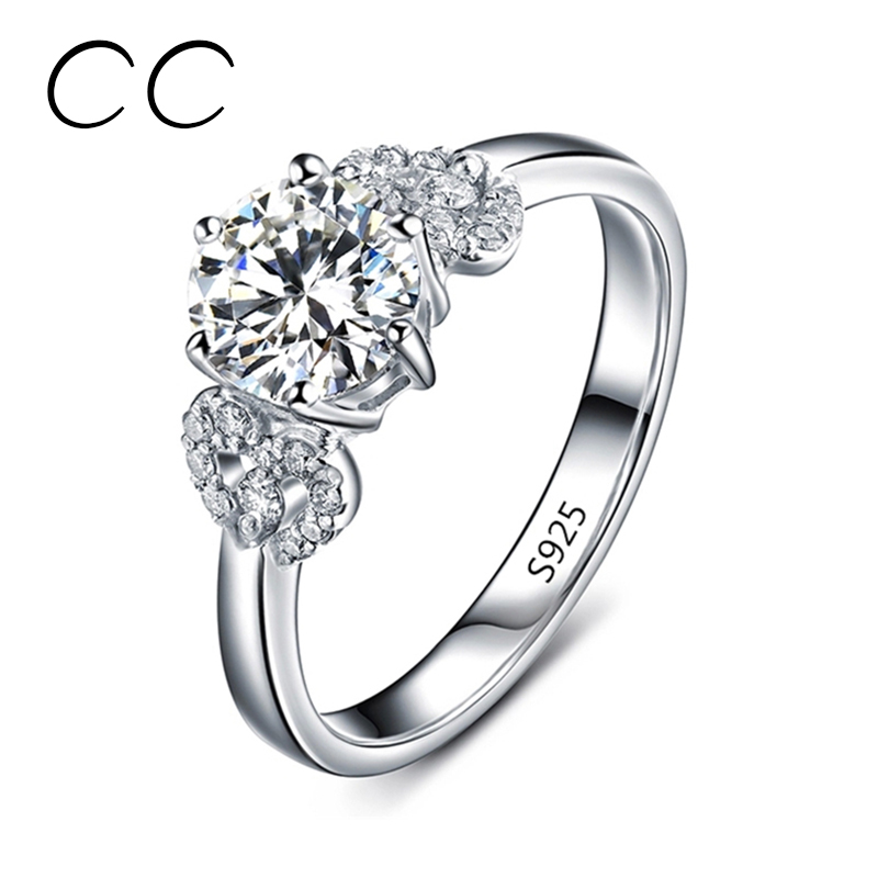 White Gold Plated Engagement Rings for Women Fashion Jewelry Wedding Band Bijoux Bagues Vintage Rings Wholesale Joias CC072(China (Mainland))