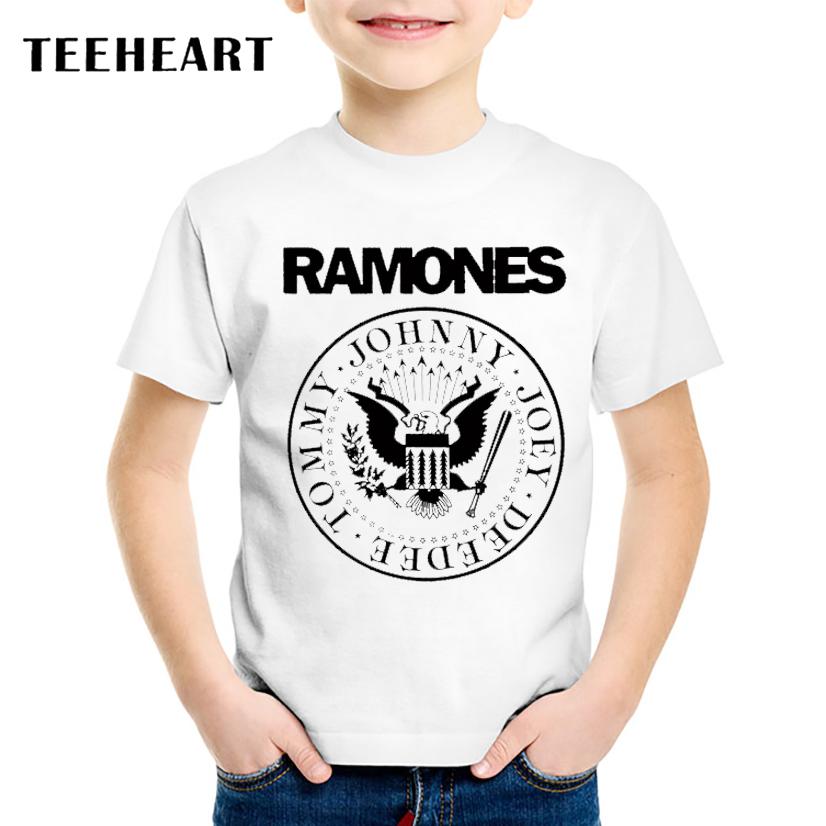 18M-10T Print Modal Ramones Band T shirt For Boys/girls Rock Punk T-Shirts for Children Baby Girls Clothing TA189(China (Mainland))