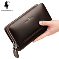 WILLIAMPOLO 2017 100 Real Leather Clutch Bag Men Europe and American Style Fashion Black Clutch Bag
