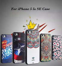 For iPhone SE Shell 3D Coloured drawing Soft Silicon Case For Apple iPhone 5 5s SE Mobile Phone Back Cover
