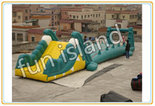 Outdoor game kids and adult inflatable obstacle course for sale(China (Mainland))