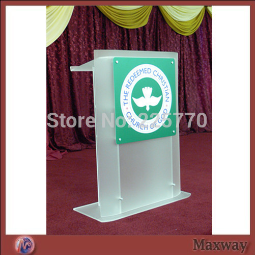 Здесь можно купить  church acrylic podium/Acrylic frosted glass plate with screen printing lectern church lectern  Мебель