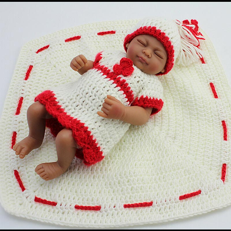 new arrival christmas gift 28cm mini silicone baby dolls